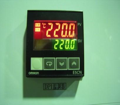 設定温度と実測温度の表示